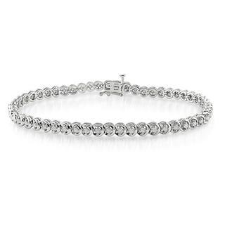 Miadora Sterling Silver 1ct TDW Diamond Bracelet
