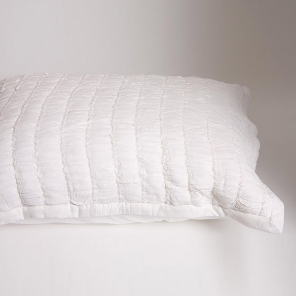 Ruched Ivory Standard-size Sham