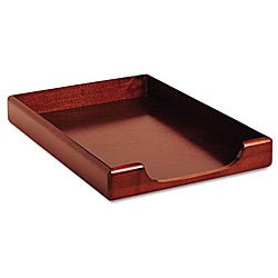 Rolodex Mahogany Wood Tones Legal Front-Load Desk Tray