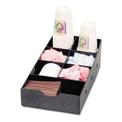 Vertiflex Black Plastic Seven-compartment Condiment Organizer Caddy