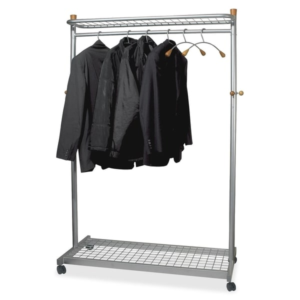 Grid Coat Rack In Office Accessories: Shop Alba Two-Shelf Chrome Coat Rack