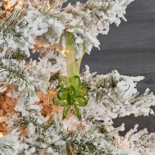 Acrylic Peridot Green Flower Christmas Ornament (India)