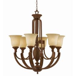 Ambassador Morrocan Bronze 6-light Chandlelier - Thumbnail 2