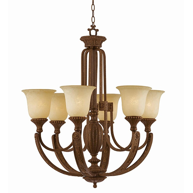 Ambassador Morrocan Bronze 6-light Chandlelier