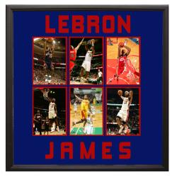 LeBron James 30 x 34-inch Deluxe 6-photograph Frame