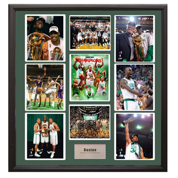 Boston Celtics 2008 World Champion 9-Photograph Deluxe Frame