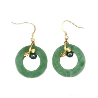 NEXTE Jewelry Goldtone Light Green Acrylic Band Dangle Earrings