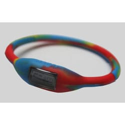 TRU: Groovy Yellow/ Red/ Blue Silicone Band Sports Watch