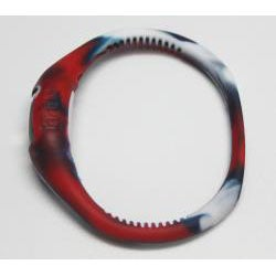 TRU: Red/ White/ Blue Silicone Band Sports Watch - Thumbnail 2