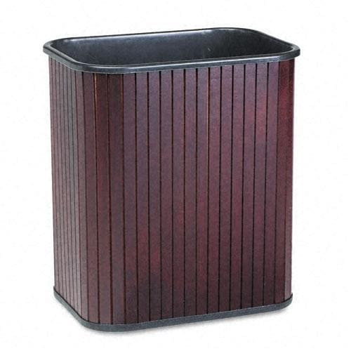 Advantus Rectangular Hardwood Wastebasket