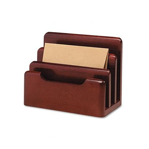 Rolodex Wood Tones Desktop Sorter in Mahogany