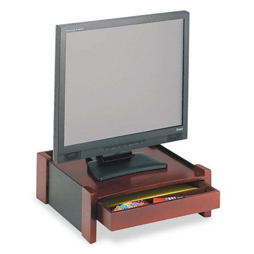 Rolodex Brown Wood Desktop Monitor Stand With Cord