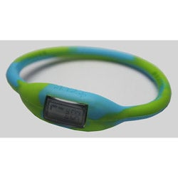 TRU: Lime/ Blue Silicone Band Sports Watch