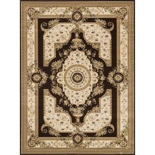 Primeval Beige Oriental Rug (9'2 x 12'7)