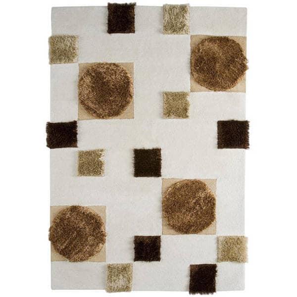 M.A.Trading Hand-tufted Anatolia White Wool Rug - 4'6 x 6'6