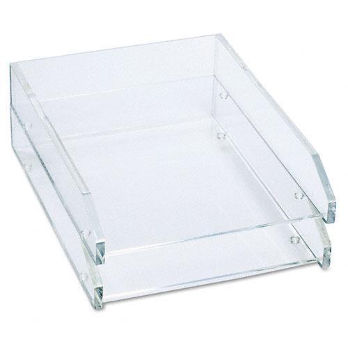 Shop Kantek Clear Front Load Desk Tray Free Shipping