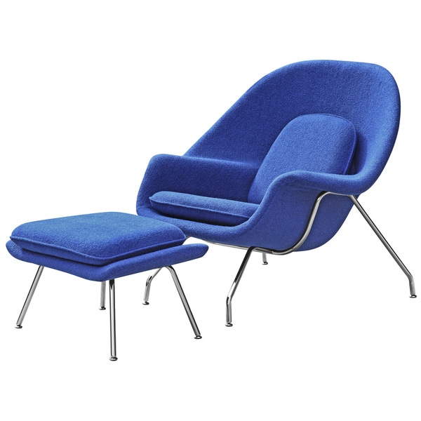 Wool Womb Chair And Ottoman   Free Shipping Today   Overstock.com   13338949