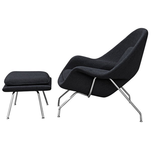 Womb Lounge Chair wool womb chair and ottoman - free shipping today - overstock