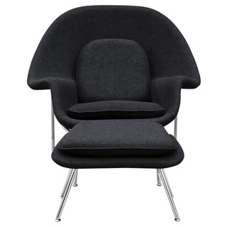 Wool Womb Chair and Ottoman