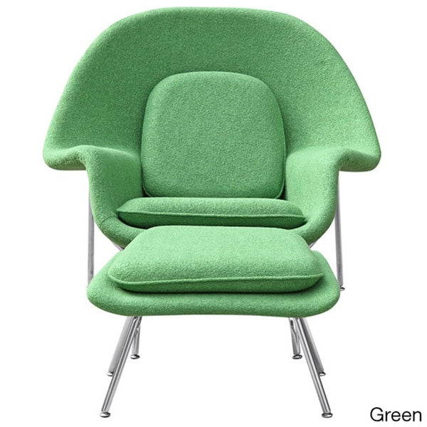 wool womb chair and ottoman free shipping today