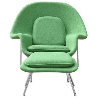 Wool Womb Chair and Ottoman (2 options available)