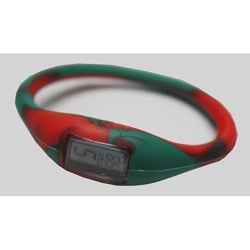 TRU: Green/ Red Silicone Band Sports Watch