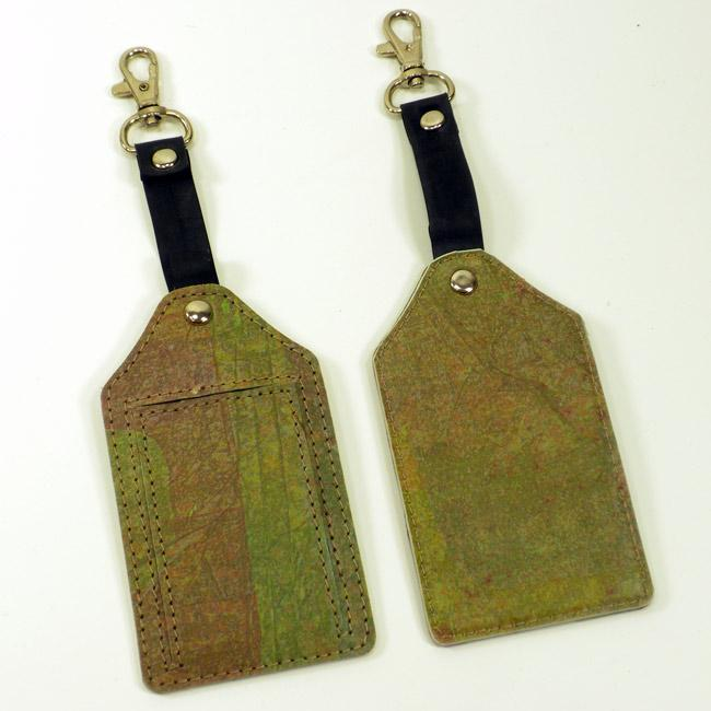 Set of Two Recycled Plastic Eucalyptus Green Travel Tag (India)