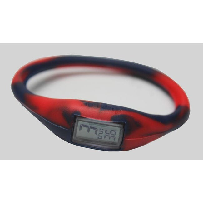 TRU: Red/ Navy Silicone Band Sports Watch - Free Shipping On Orders ...
