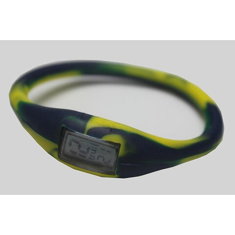 TRU: Navy/ Yellow Silicone Band Sports Watch