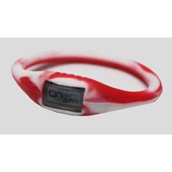 TRU: Red/ White Silicone Band Sports Watch