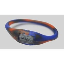 TRU: Orange/ Royal Blue Silicone Band Sports Watch