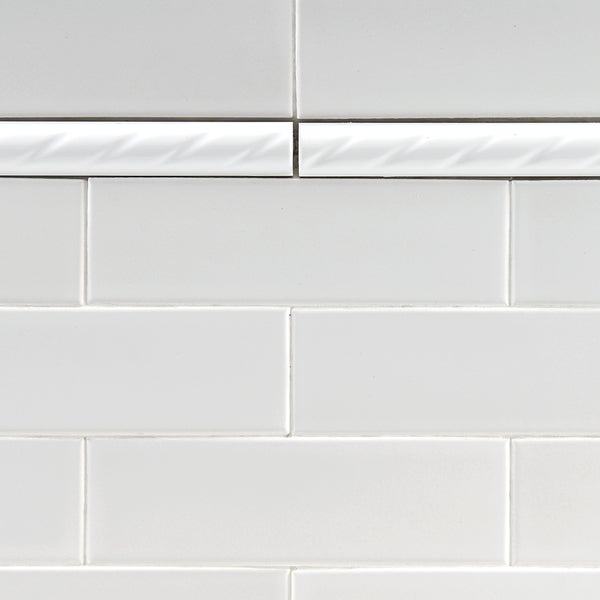 Somertile 1x8 In White Rope Pencil Ceramic Trim Tile Pack Of 12 Free Shipping On Orders Over 45 13339220