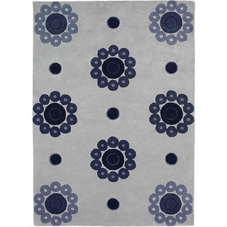 M.A.Trading Hand-tufted Como Blue Wool Rug (8'3 x 11'6)