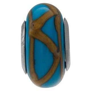 Sterling Silver Turchese Murano Glass Bead