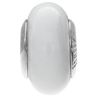 Sterling Silver Bianca Murano Glass Bead https://ak1.ostkcdn.com/images/products/5569355/P13339378.jpg?impolicy=medium