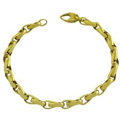 Fremada 14k Yellow Gold 8.5-inch Polished Fancy Link Bracelet