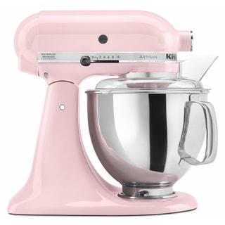KitchenAid RRK150PK Pink 5 Quart Artisan Tilt Head Stand Mixer (Refurbished)