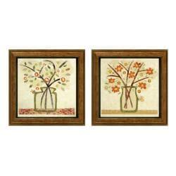 Kate Endle 'A Jar of Flowers' Framed 2-piece Art Set