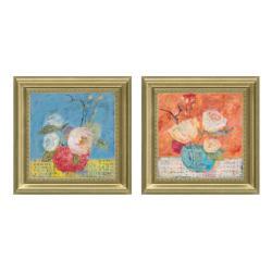 Carolyn Holman 'Red Vase' Framed 2-piece Art Set