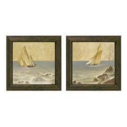 Romano Kessler 'Nautical Fusion' 2-piece Framed Wall Art - Thumbnail 0