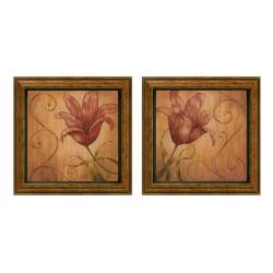 Nan 'Tiger Lily' Framed Wall Art (Set of 2)