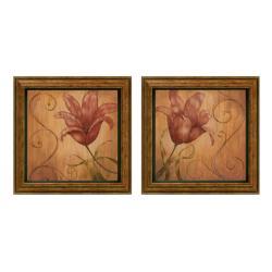 Nan 'Tiger Lily' Framed Wall Art (Set of 2)