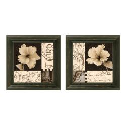 Katrina Craven 'Hibiscus Blossom' Framed Wall Art (Set of 2)