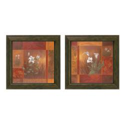 Viv Bowles 'Showcase Calla Lilies' Framed Wall Art (Set of 2)