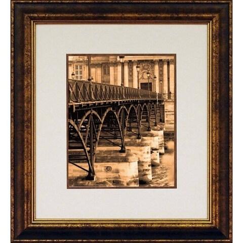 Marina Gilboa 'Ponts des Arts - Detail' Framed Wall Art - Brown