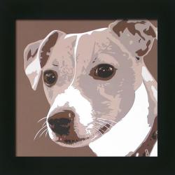Emily Burrowes 'Jack Russell' Framed Wall Art - Thumbnail 0