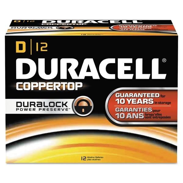 Duracell Coppertop Alkaline D Batteries (Pack of 12)