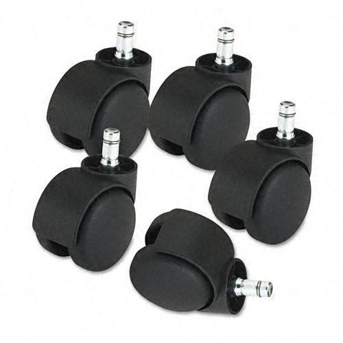 Master Caster Heavy-duty Hard-tread Deluxe Casters in Matte-black