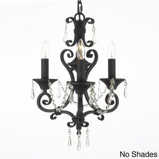 Gallery Regent 3-light Black Crystal Mini Chandelier