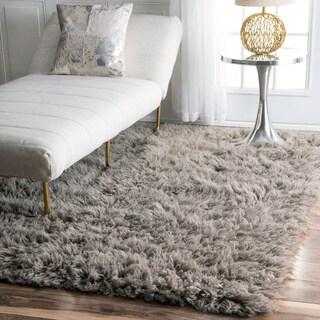 nuLOOM Hand-woven Alexa Flokati Wool Shag Rug (4' x 6')